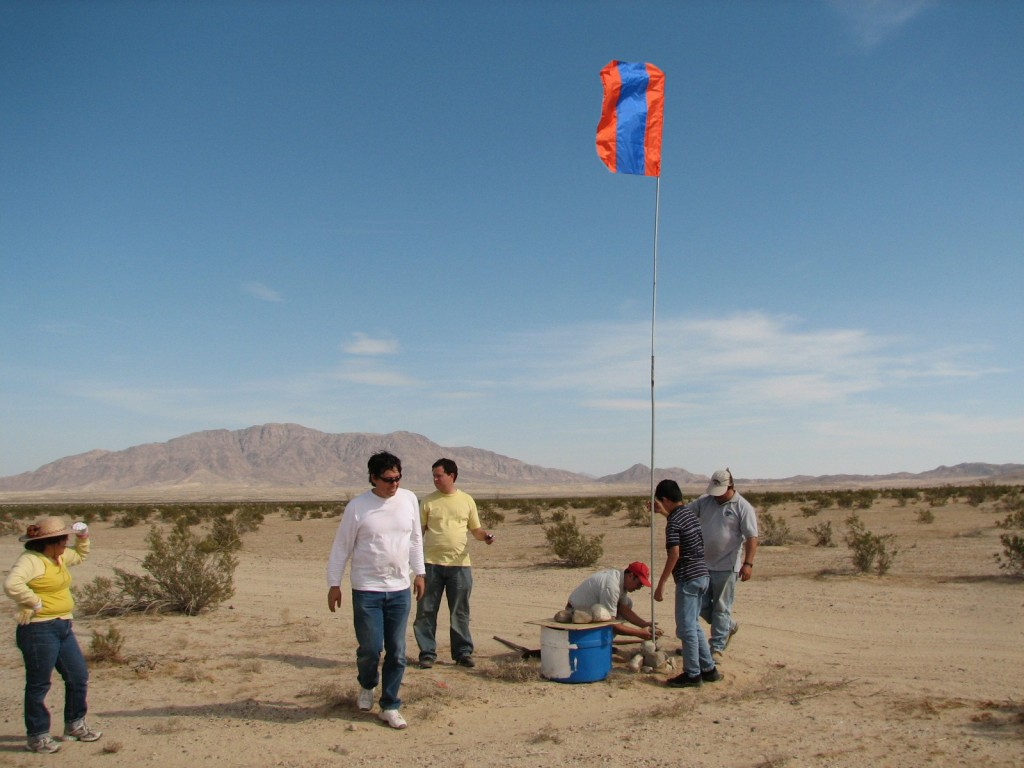 Volunteers Installing a Water Station